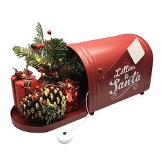 "St. Nicholas Square ""Letters to Santa"" LED Mailbox Table Decor."