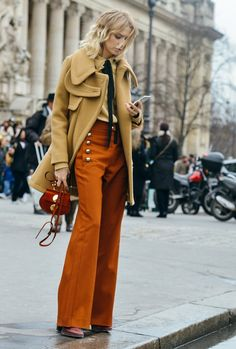 There is something very cool about this but the color is bumming me out! Paris Street Style Trends: What Parisians Are Wearing Now