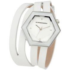 Women's BG6395 Prism Double Wrap Custom Polygon Case Crystal Watch
