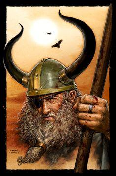 Norse God King Odin