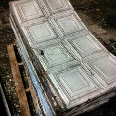 Embossed Tin Ceiling Tiles: Recycled & Repurposed | Tin ...