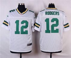 Nike Green Bay Packers  12 Aaron Rodgers White Elite Jersey Nfl Green Bay 2fefc74e4