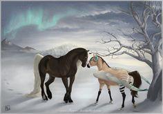 Azure aurora by AonikaArt Creature Drawings, Horse Drawings, Animal Drawings, Magical Creatures, Fantasy Creatures, Beautiful Creatures, Arte Equina, Horse Animation, Unicornios Wallpaper