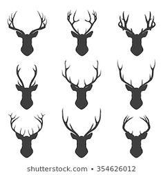Antler Tattoos, Stag Tattoo, Tatoo Henna, Diy Tattoo, Tattoo Set, Deer Skull Tattoos, Fox Tattoos, Raven Tattoo, Hirsch Silhouette
