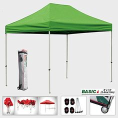 Eurmax Basic 8x12 EZ Pop Up Canopy Tent Entry Commercial Level w/Roller bag (Kelly Green) * You can get additional details at the image link.