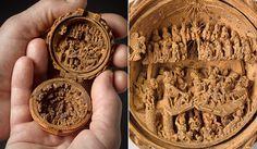Microesculturas ultradetalhadas do século 16 que cabem na palma da mão