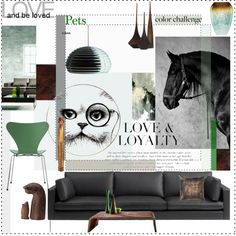 Pet Love by szaboesz on Polyvore featuring interior, interiors, interior design, home, home decor, interior decorating, Artifort, Pacini & Cappellini, Flos and Rory Dobner