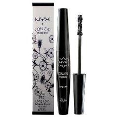 NYX Doll Eye Mascara, Extreme Black, Long Lash DE01, (makeup, eyeshadow, eye shadow, nyx cosmetics, eyeshadow primer, milk, volumizing, cottage, eyeshadow pencils, jumbo eye pencil)