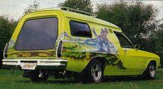hq panelvan, sick rear window