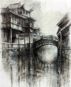 Meeting Place, Wuzhen » Ian Murphy Drawings