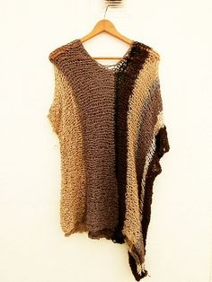 Simple is the best Hand knitted womens sweater by armarioenruinas