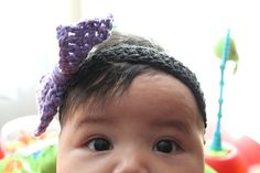 a bow headband... crochet for babies