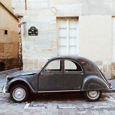 Retro car spotting at Saint-Paul Le Marais in Paris, France   Photo by Alex Spatari   via styleandcreate.com