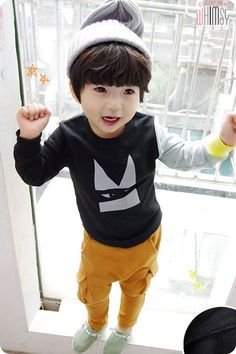 Multi Colored Sleeve Sweatshirt for boys kids fashion at colormewhimsy fall season
