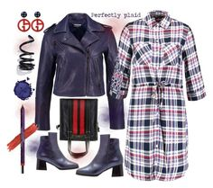 Perfectly plaid by amisha73 on Polyvore featuring moda, Balenciaga, Proenza Schouler, Giorgio Armani, Pat McGrath and By Terry