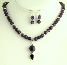 Faceted Amethyst Necklace. Listing 84345127 by Ptcreationsjewelry, $35.00