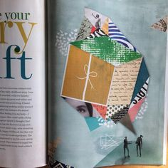 "In the new issue of Spiritually & Health magazine. ""Make your story a gift "" #illustration #editorial #collage #paper"