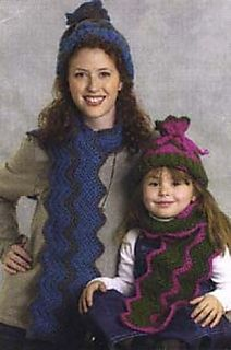 TracyJean1972's Mother-and-child Tube Hat & Scarf