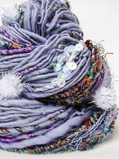 Hand Spun Art Yarn - SHYAMALI by Yarnmantra, via Flickr                                                                                                                                                      More