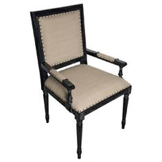 Noir Regency Hand Rubbed Black Arm Chair NOIGCHA125AHBC