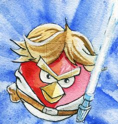 Fan art Angry bird star wars :D by ZyriFrost