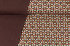 Stoffpakete - 623 Stoffpaket Jersey Blumen Braun 1,25m - ein Designerstück von my-kati bei DaWanda