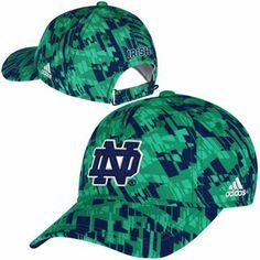 huge discount 0b144 45437 adidas Notre Dame Fighting Irish Ladies Kryptonite Adjustable Hat - Kelly  Green Navy Blue