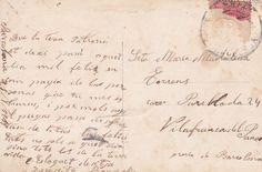 Letter written on back of postcard Old Postcards, Letter Writing, Lettering, Drawing Letters, Brush Lettering