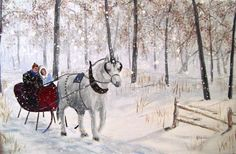"""Winter Wonderland"".  A one-horse open sleigh ride my wife and I would like to take one day."