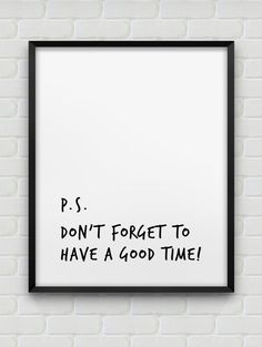 have a good time print // motivational poster // black and white home decor print // modern wall decor // typographic print Lettering, Typography, Gym Quote, Typographic Poster, White Home Decor, Black Decor, White Houses, Modern Prints, Wall Quotes