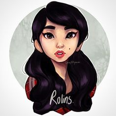 Decided to draw the pretty @Rolins for