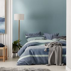 Home Republic - Retreat Quilted Quilt Cover Indigo Home, Home And Living, Linen Bedroom, Bed, Home Republic, Furniture, New Homes, Bedroom Set, Bedroom