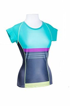 f30df00d7 Moxie Cycling Womens Color Block Tee Jersey GrayVioletAqua Small   See this  great product.Note It is affiliate link to Amazon.  food