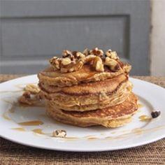 Walnut Glazed Quinoa Pancakes