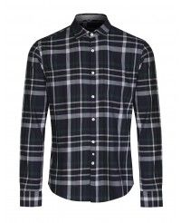 Woolrich Men's Flannel Large Checked Shirt - Classic Blue
