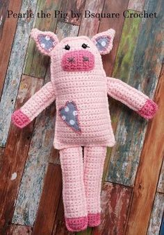 Bsquare Crochet: Pearle the Pig- Rag Doll Free Crochet Pattern