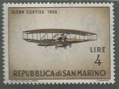 Repubblica di San Marino - Early planes series (1962) Tampons, Mail Art, Postage Stamps, Airplanes, Astronomy, Wwii, Planets, Aircraft, Poster