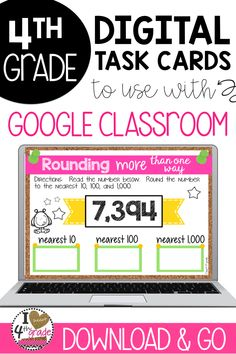Rounding for 4th grade | Google Classroom 4th grade | Google Classroom Elementary | Google Classroom Math | Rounding Numbers | Rounding Math Centers | Help students understand and master rounding numbers more than one way. Google Slides and Google Forms included. #rounding #4thgrade
