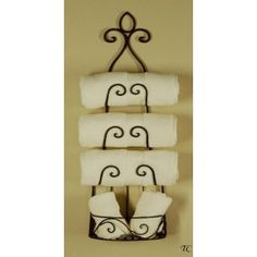 wine rack as a towel holder