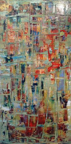 """""""Resonance"""" by Chris Foster; Acrylic on Canvas 48"""" x 24"""""""