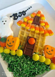 Using Halloween Treats for a Yummy Haunted House - Sponsored by #EggoWaffleOff at B-InspiredMama.com