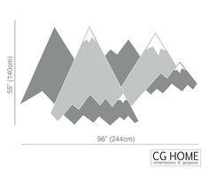 MOUNTAIN Wall Decal Crib Mountains Covering Wall Protection