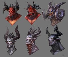 ArtStation - Demon heads , Dinulescu Alexandru