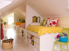10 Fulfilled Clever Tips: Large Attic Space walk up attic renovation.Walk Up Attic Renovation. Kid Room Decor, Home, Room Colors, Home Organization, Bedroom Design, Bright Rooms, Shared Kids Room, Childrens Bedrooms, Room Design