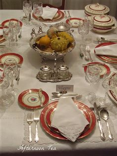 Table set for luncheon.  Lovely Silver setting BK10-2014