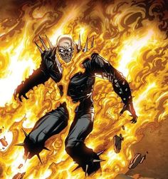 Ghost Rider (Blaze) screenshots, images and pictures - Comic Vine Ms Marvel, Marvel Art, Ghost Rider Johnny Blaze, Ghost Rider Marvel, Comic Book Characters, Marvel Characters, Comic Character, Comic Books, Mike Deodato