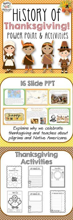 Thanksgiving Activities - History of Thanksgiving PowerPoint