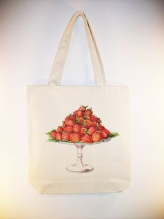 Beautiful Vintage Strawberries on Platter by Whimsybags on Etsy, $12.00