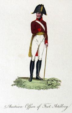Österreich - Offizier der Artillerie zu Fuß