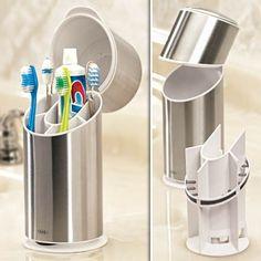 Sanitary toothbrush holder